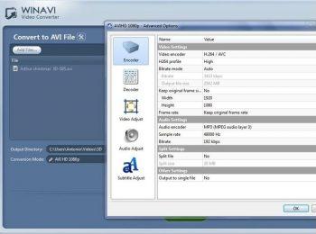 Configuracion WINAVI VIDEO CONVERTER