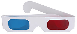 Gafas de anaglifo 3d