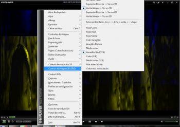 Configuracion 3D en KMplayer