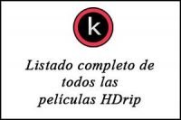 Listado completo de todas las películas en HDrip
