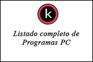 Listado completo de programas PC