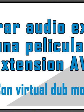 Integrar audio externo en una pelicula