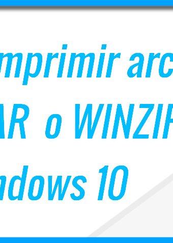 Descomprimir archivos WINRAR en Windows 10